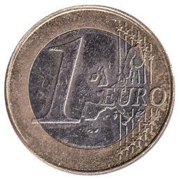 1 euro coin obverse