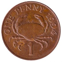 1 Penny coin Guernsey obverse accepted for exchange