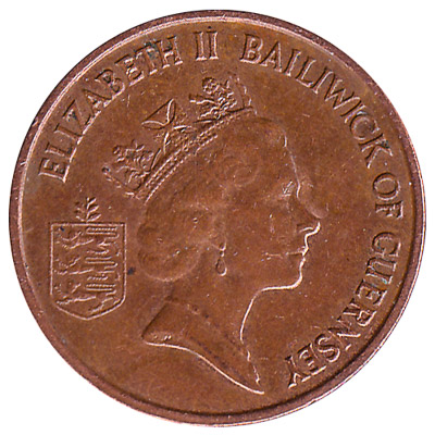 1 Penny coin Guernsey reverse accepted for exchange