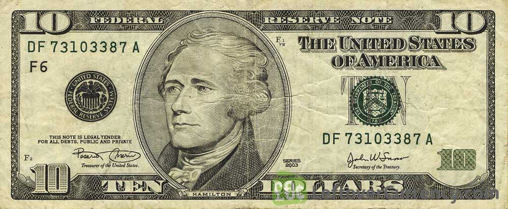 10 American Dollars series 1999 - Exchange yours for cash today