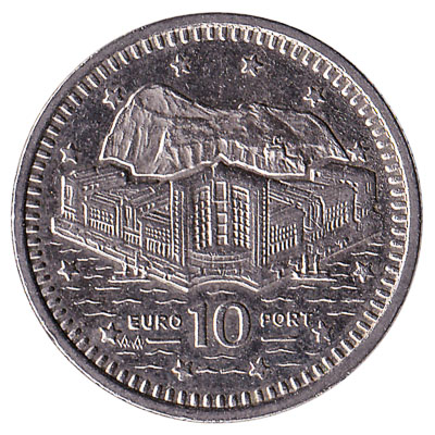 10 Pence coin Gibraltar obverse accepted for exchange