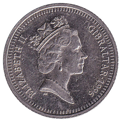 10 Pence coin Gibraltar reverse accepted for exchange