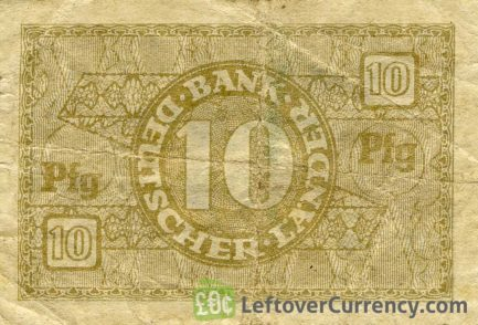 10 Pfennig banknote Germany - Bank Deutscher Länder reverse accepted for exchange