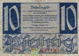 10 Pfennig banknote Germany - Behelfsgeld 1947 obverse accepted for exchange