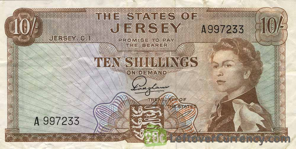 10 Shillings banknote Jersey - St. Ouen's Manor obverse accepted for exchange