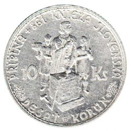 10 Slovak koruna coin silver accepted for exchange