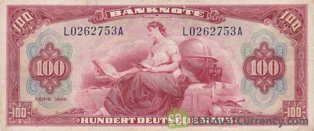 100 Deutsche Marks banknote (Bank Deutcher Länder 1948) obverse