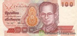 100 Thai Baht banknote - Mature King Rama IX obverse accepted for exchange