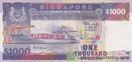 1000 Singapore Dollars (Ships series) obverse accepted for exchange