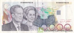 10000 Belgian Francs banknote King Baudouin I and Queen Fabiola obverse accepted for exchange