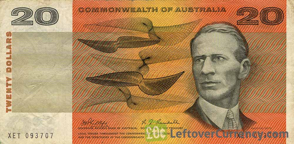 20 Australian Dollars banknote - Commonwealth of Australia obverse accepted for exchange