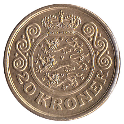 20 Danish kroner coin accepted for exchange