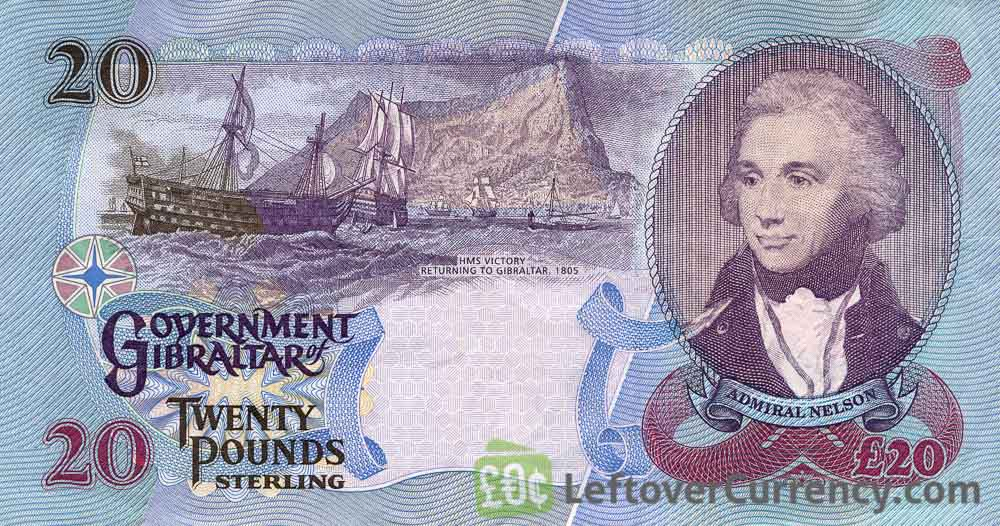 20 Gibraltar Pounds banknote - John Mackintosh Square reverse accepted for exchange