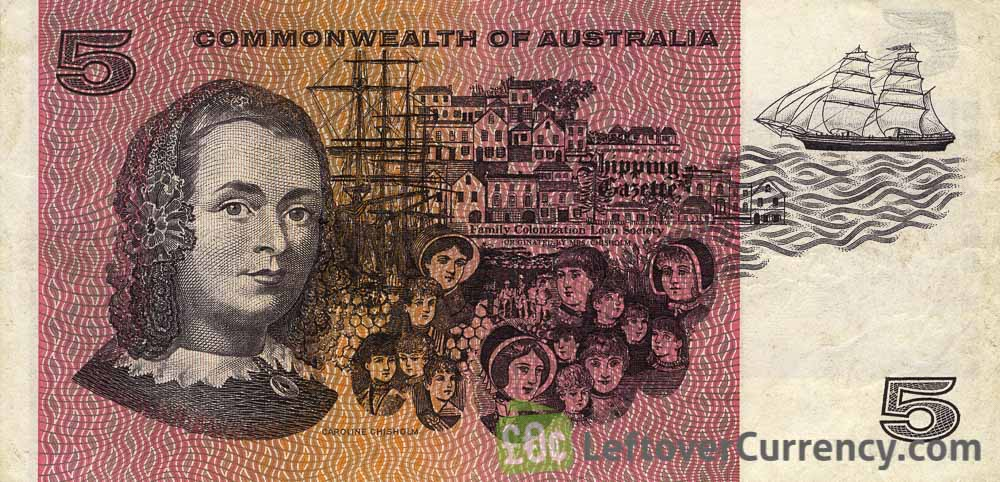 5 Australian Dollars banknote - Commonwealth of Australia reverse accepted for exchange