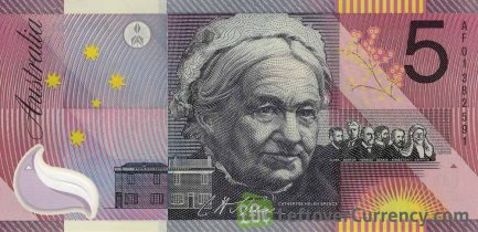 5 Australian Dollars banknote - Sir Henry Parkes reverse accepted for exchange