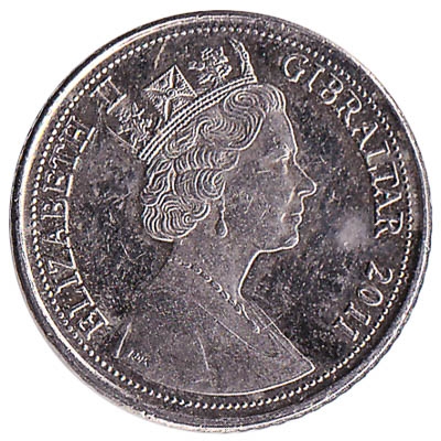 5 Pence coin Gibraltar reverse accepted for exchange