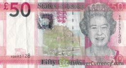 50 Jersey Pounds banknote series 2010 obverse accepted for exchange