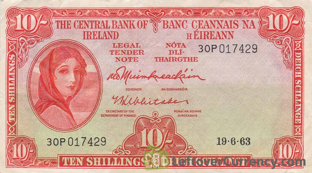 50 Pence banknote Ireland (Lady Hazel Lavery) obverse accepted for exchange