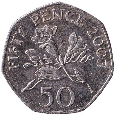 50 Pence coin Guernsey obverse accepted for exchange