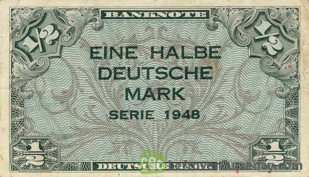 50 Pfennig banknote Germany - Bank Deutcher Länder 1948 obverse accepted for exchange