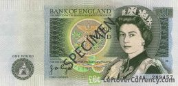 Bank of England 1 Pound Sterling banknote - Sir Isaac Newton accepted for exchange