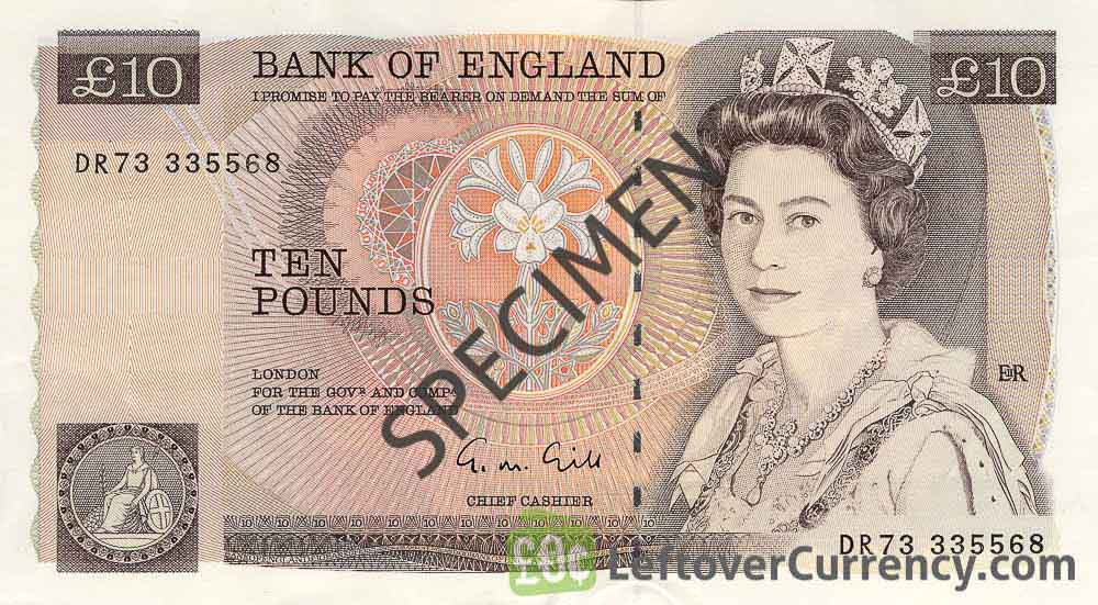 Bank of England 10 Pounds Sterling banknote - Florence Nightingale obverse accepted for exchange