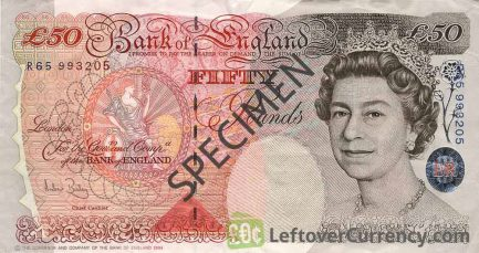 Bank of England 50 Pounds Sterling banknote - Sir John Houblon obverse accepted for exchange