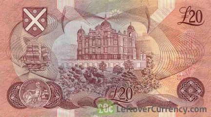 Bank of Scotland 20 Pounds banknote - 1970-1993 series reverse accepted for exchange
