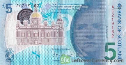 Bank of Scotland 5 pounds 2015 obverse