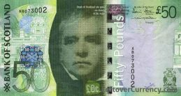 Bank of Scotland 50 Pounds banknote - 2007-2011 series obverse accepted for exchange