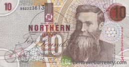 Northern Bank 10 Pounds banknote (series 1997-1999) obverse accepted for exchange