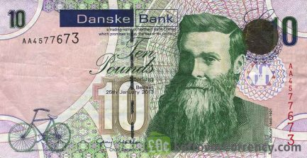 Northern Bank 10 Pounds banknote - series 2005 obverse accepted for exchange