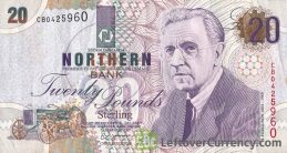 Northern Bank 20 Pounds banknote - series 1997-1999 obverse accepted for exchange