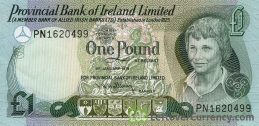 Provincial Bank of Ireland Limited 1 Pound banknote - Young boy obverse accepted for exchange