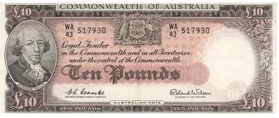 10 Australian Pounds banknote - Gov. Arthur Phillip