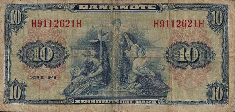 10 Deutsche Marks Bank Deutcher Lander 1948 Exchange Yours