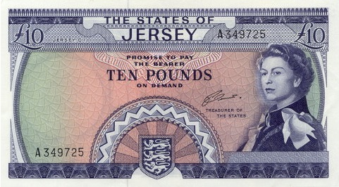 10 Jersey Pounds banknote - St. Ouen's Manor
