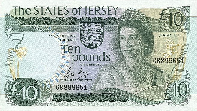 10 Jersey Pounds banknote - Victoria College