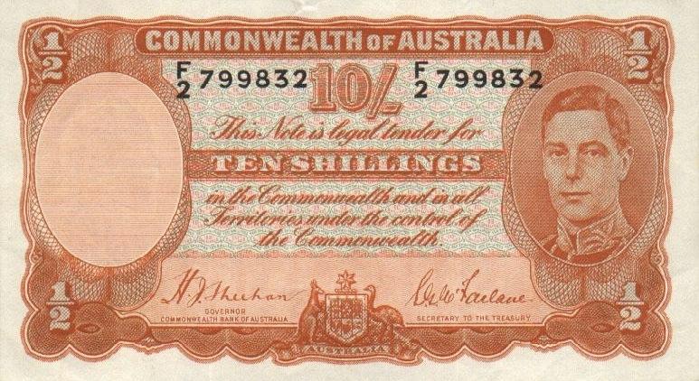 10 Shilling banknote Australia