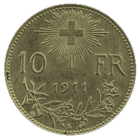 10 Swiss Francs coin