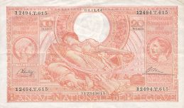 100 Belgian Francs banknote - type Vloors Orange French-Dutch