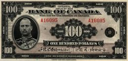 100 Canadian Dollars banknote - Prince Henry series 1935