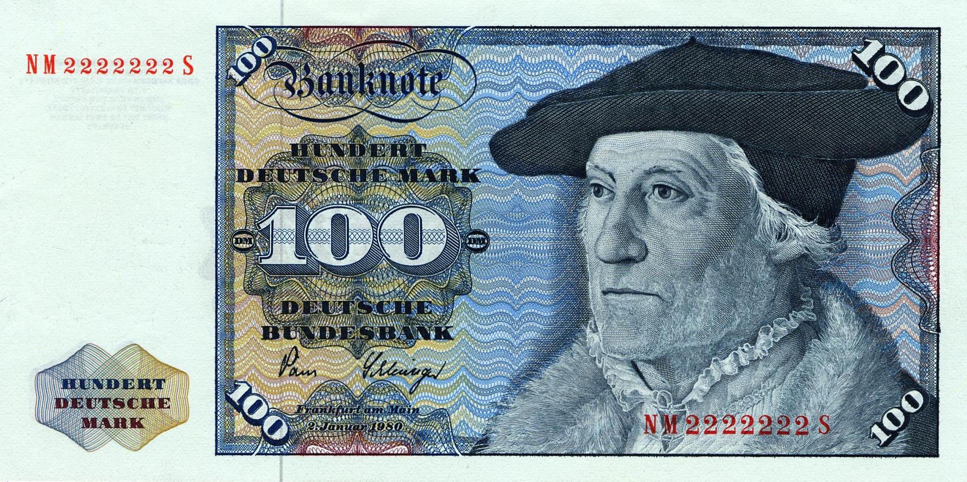 100 Deutsche Marks banknote - Sebastian Münster