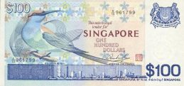 100 Singapore Dollars banknote - Bird series
