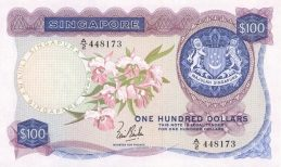 100 Singapore Dollars banknote - Orchids series