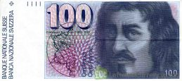 100 Swiss Francs banknote Francesco Borromini 7th series obverse accepted for exchange