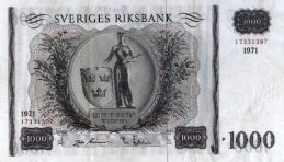 1000 Swedish Kronor banknote - King Gustaf V