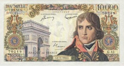 10000 French Francs banknote - Napoléon