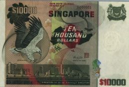 10000 Singapore Dollars banknote - Bird series
