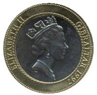 2 Gibraltar Pounds coin